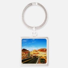 Valley of Fire Square Keychain
