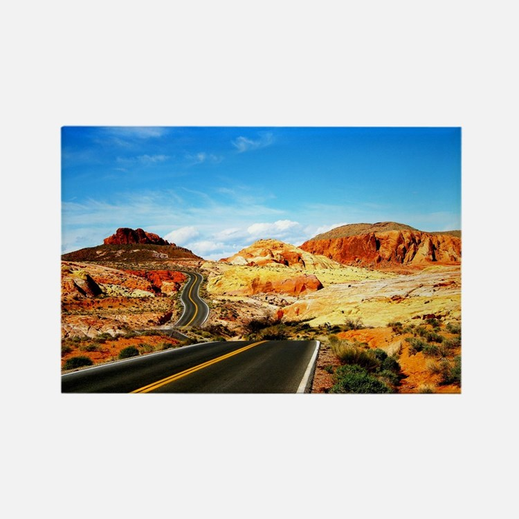 Valley of Fire Rectangle Magnet