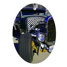 Ratrodblue Oval Ornament