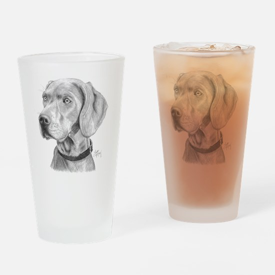 Weimaraner3 Drinking Glass