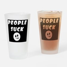 People Suck Logo Drinking Glass