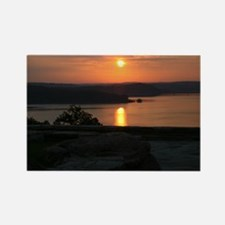 sunrise over Norfork Lake Rectangle Magnet