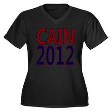 herman cain  Women's Plus Size Dark V-Neck T-Shirt