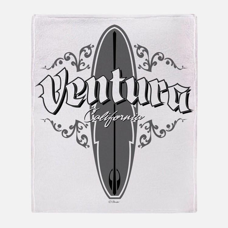 Surf Ventura GrayBlack CP 061311 cop Throw Blanket