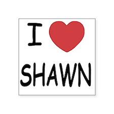 "SHAWN Square Sticker 3"" x 3"""