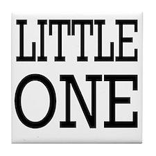Little One blk Tile Coaster