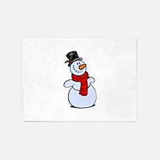 Snowman 5'x7'Area Rug