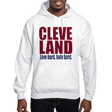 ART Cleveland love hard hate har Hoodie