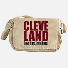 ART Cleveland love hard hate hard bi Messenger Bag