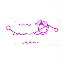 swim pink.gif Aluminum License Plate