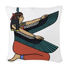 Egyptian Goddess Maat Woven Throw Pillow