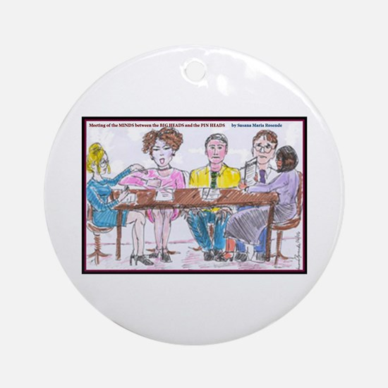 Big Heads and Pin Heads Ornament (Round)