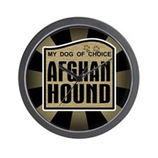 Afghan Hound Dog Choice Owner Wall Clock