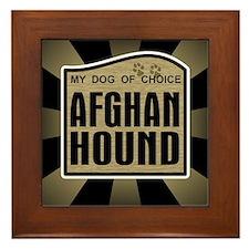 Afghan Hound Dog Choice Owner Framed Tile