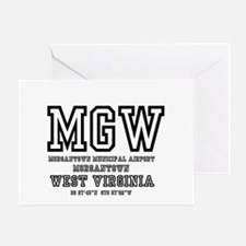 AIRPORT CODES - MGW - MORGANTOWN, WE Greeting Card