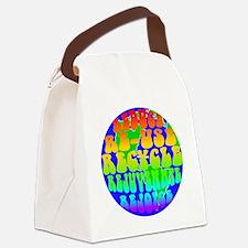 rejoice 2 rainbow Canvas Lunch Bag