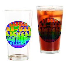rejoice 2 rainbow Drinking Glass