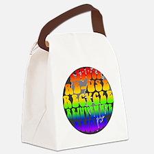 rejoice 2 gray Canvas Lunch Bag