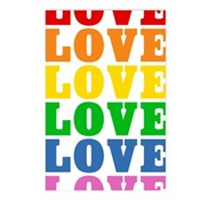 rainbow-love Postcards (Package of 8)