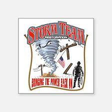 """2011 Tornado Storm Cafe Pre Square Sticker 3"""" x 3"""""""