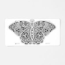 Celtic Moth Aluminum License Plate