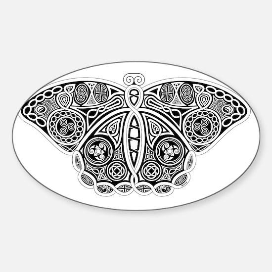 Celtic Moth Sticker (Oval)