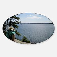 Maine Ocean View Sticker (Oval)