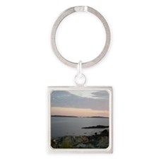 Graves Light beyond Middle  Outer  Square Keychain