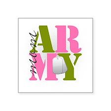 "armymom Square Sticker 3"" x 3"""