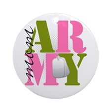armymom Round Ornament