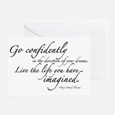 THOREAU2-wallpeel-38x24 Greeting Card