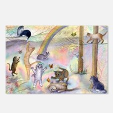 Cats waiting at Rainbow B Postcards (Package of 8)