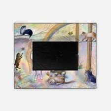 Cats waiting at Rainbow Bridge Picture Frame