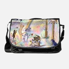 Cats waiting at Rainbow Bridge Messenger Bag
