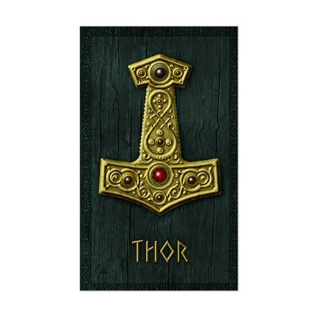 Thors Hammer X Gold- THOR Sticker (Rectangle)