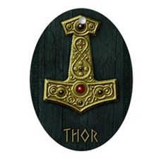 Thors Hammer X Gold- THOR Oval Ornament