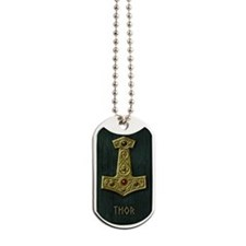 Thors Hammer X Gold- THOR Dog Tags