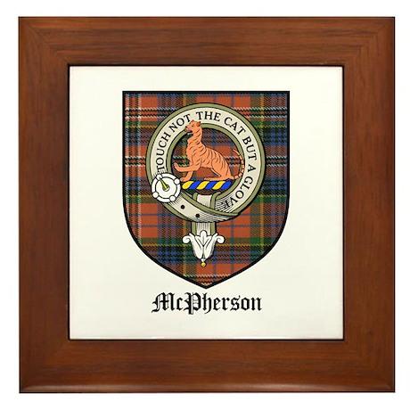 McPherson Clan Crest Tartan Framed Tile
