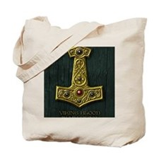 Thors Hammer X Gold- Viking Blood Tote Bag