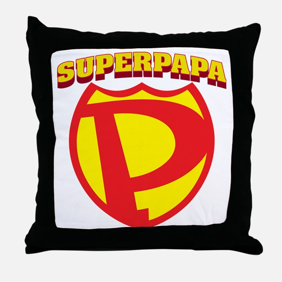 SuperPapa Logo Throw Pillow