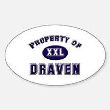 Property of draven Oval Decal
