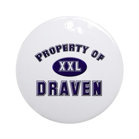 Property of draven Ornament (Round)