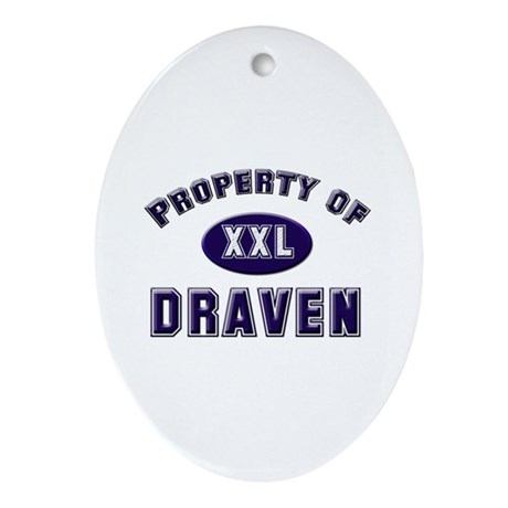 Property of draven Oval Ornament