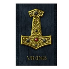 Thors Hammer X - Gold- Vi Postcards (Package of 8)