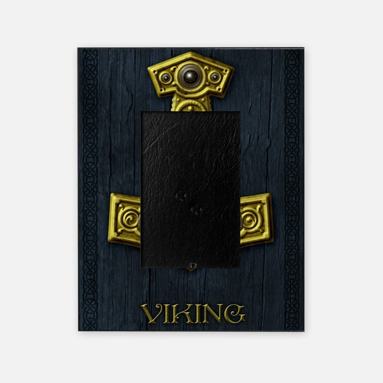 Thors Hammer X - Gold- Viking Picture Frame