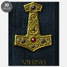 Thors Hammer X - Gold- Viking Puzzle