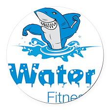 TMac Water Aqua Aerobics Fitness Round Car Magnet
