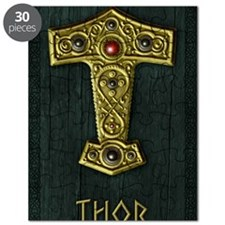 Thors Hammer UP Gold THOR Puzzle