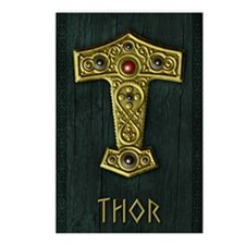 Thors Hammer UP Gold THOR Postcards (Package of 8)