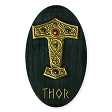 Thors Hammer UP Gold THOR Decal